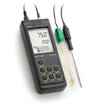 哈纳HI9124N便携式防水型pH/温度测定仪